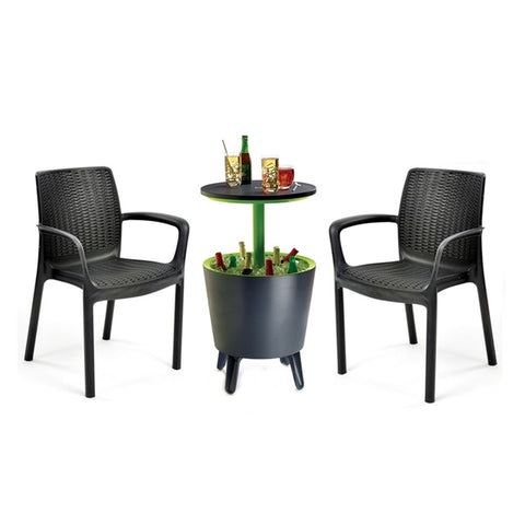 Bali Chair and Cool Bar Set (Grey)