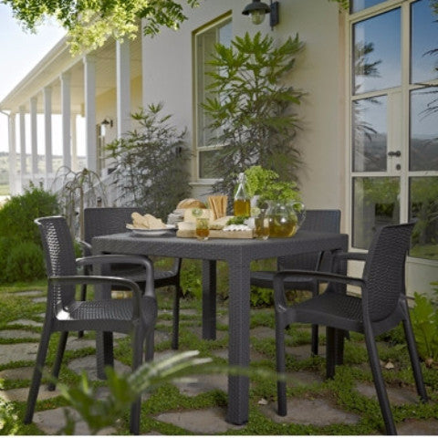 Keter Bali Square Dining Table Set Outdoor The Home Shoppe