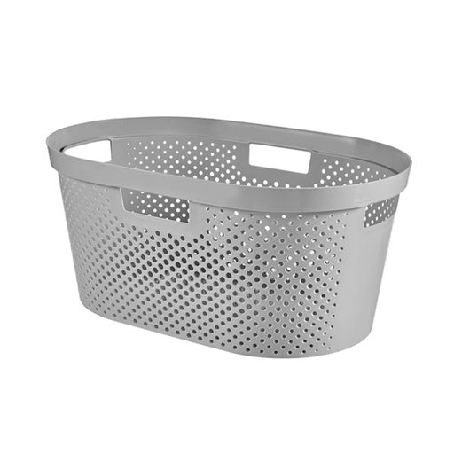 Infinity Laundry Basket Dots 40L Grey