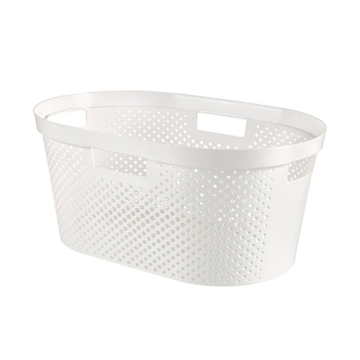Infinity Laundry Basket Dots 40L White