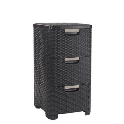 Rattan Style 3 Drawer