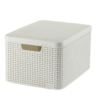 Curver Storage Style Box L Lid Waterproof Plastic Boxes