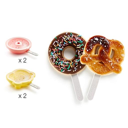 2 Donuts & 2 Prezel Popsicles Set