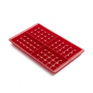 Waffle Mould 4 Cav 2pcs set Red