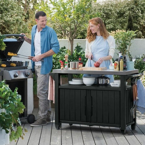 Unity XL Storage Buffet Bbq Table + FREE GIFT Burger Party