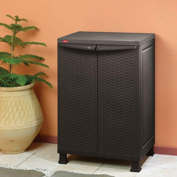 Keter Indoor Rattan Wall And Base Cabinet With Legs The