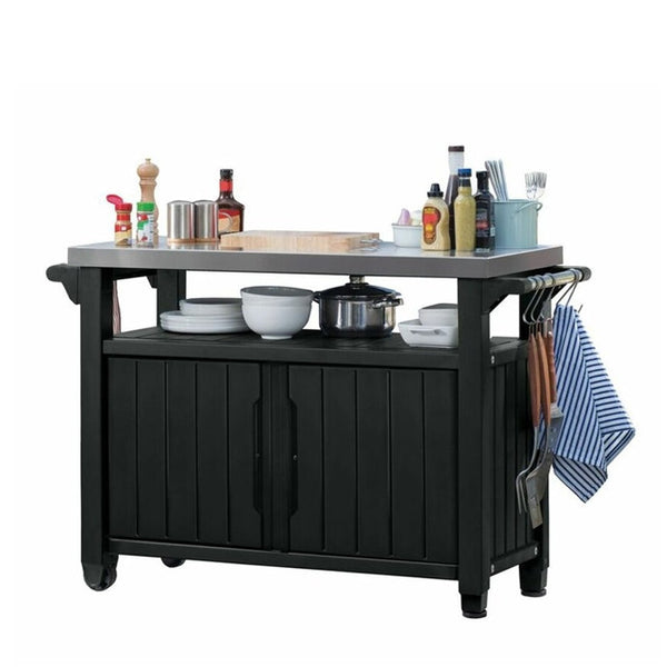 Keter Unity Xl Outdoor Storage Buffet Bbq Table Free