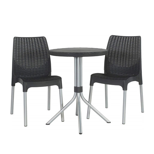 Chelsea Table + Chair Set Graphite