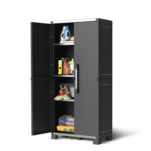 Keter XL Pro Utility Heavy Duty Indoor Storage Cabinet Grey U2014 The Home  Shoppe