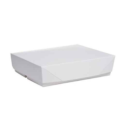 Lunch Paper Box Big White Carton (100 pieces)