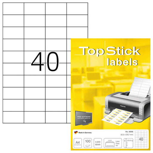 Top Stick Labels 52.5 x 29.7mm (8698)