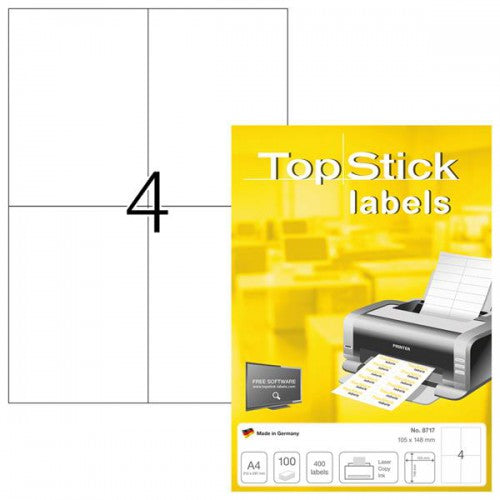 Top Stick Labels 105 x 148mm (8717)