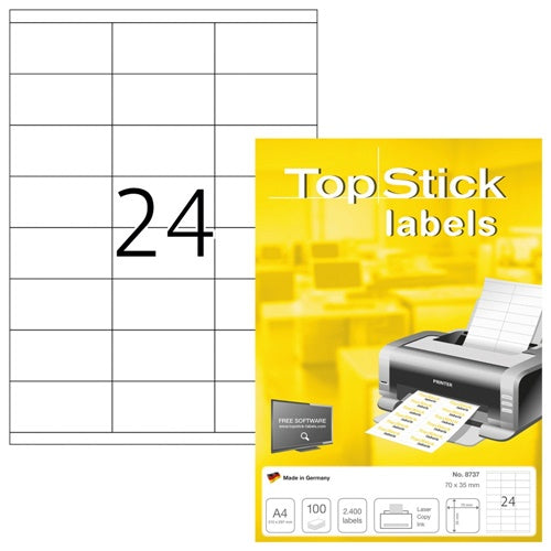 Top Stick Labels 70 x 35mm (8737)