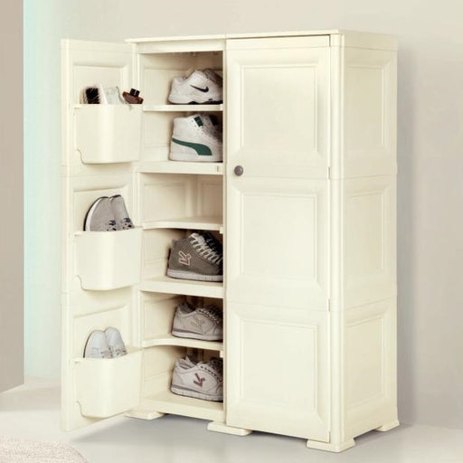 Shoe Cabinet 12 Shelves + 6 Side Pockets 2 Doors