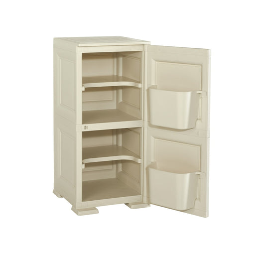 Shoe Cabinet 4 Shelves + 2 Side Pockets