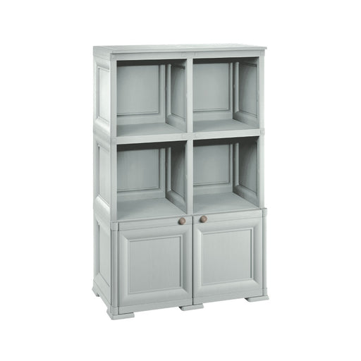2 Open Shelves + 1 Door Cabinet Unit