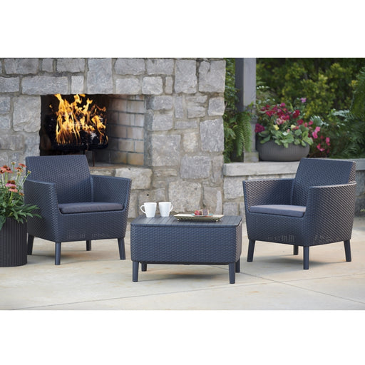 Salemo Balcony Sofa Set Graphite