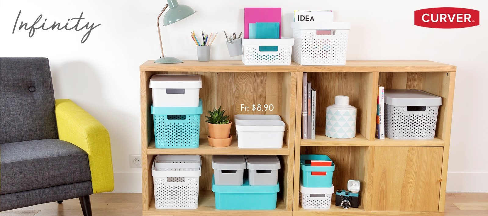 Curver style boxes rattan design home storage organisation