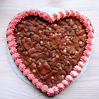 Heart Cookie Cakes