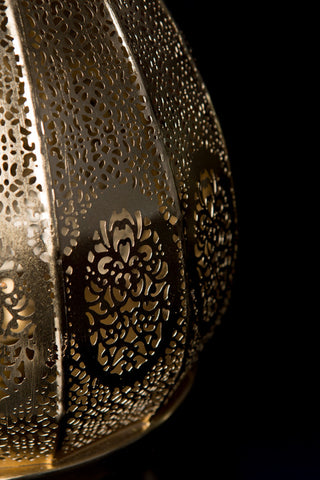 Gold Moroccan Style Lantern