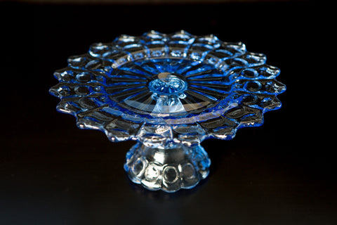Blue Glass Cake Stand