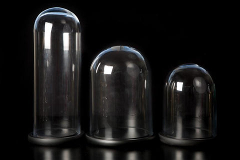 Domes: Glass Black Base - Tall