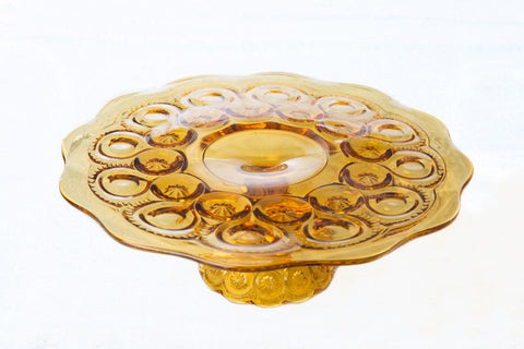 Cake Stand - Coloured Glass