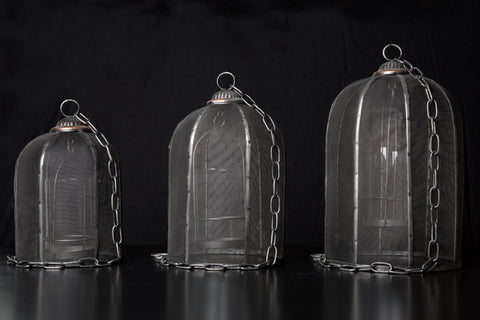 Lanterns: Black Mesh Domed - Small