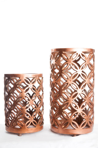 Brass Metal Tall Candle Holders