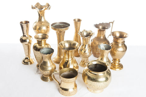Assorted Brass Vases and Vessels