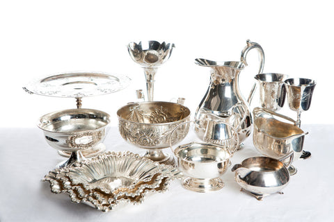 Assorted Antique Silver Vases and Vessels 150601