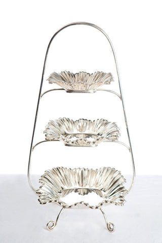 Mapin and Webb Silver High Tea Stand