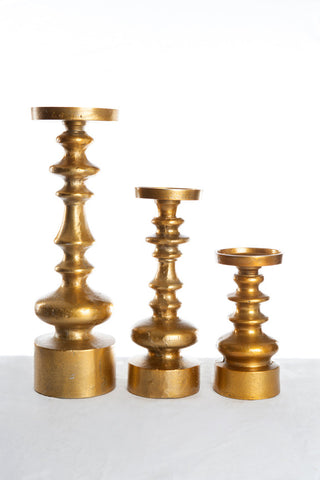 Chunky Brass Candle Holders