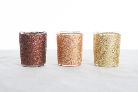 Glitter Metallic Tea Light Holders