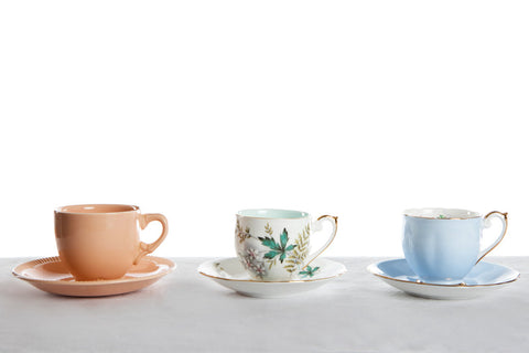 Assorted Vintage Cups and Saucers 20101