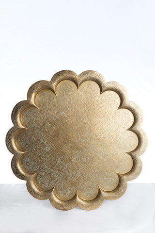 Brass Scalloped Tray