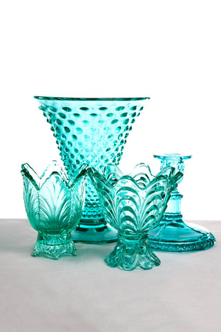 Assorted American Fenton Glass Vases and Candlesticks
