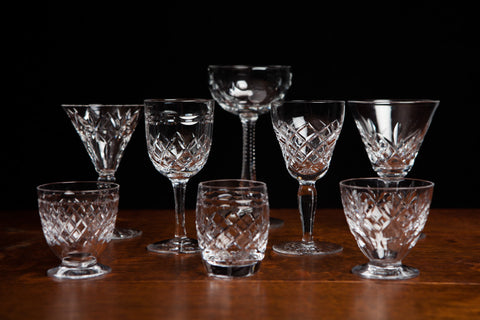 Assorted Antique Crystal Sherry Glasses