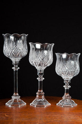 Candlesticks: Crystal Hurricane - Tall Stem