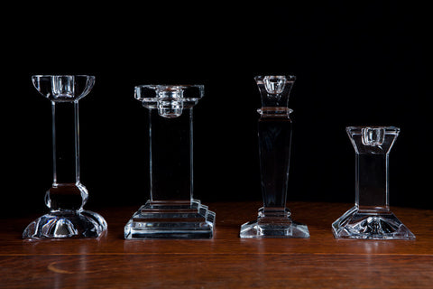 Assorted Crystal Candlesticks