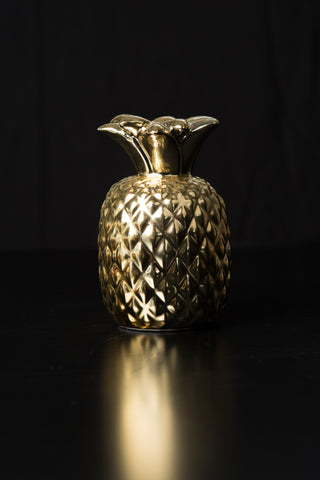 Candlesticks: Gold Pineapple