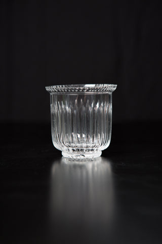 Candlesticks: Crystal Votive - mxd Vintage look