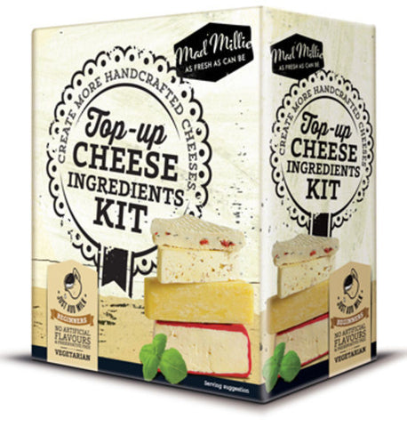 Top-Up Cheese Kit: Culture, Cheese Cloth, Calcium Chloride, Citric Acid, Rennet
