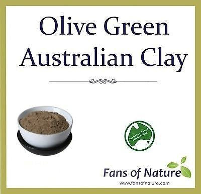 Olive Green Cosmetic Clay Powder - Acne Cellulite Stretch Mark & Detox Mask