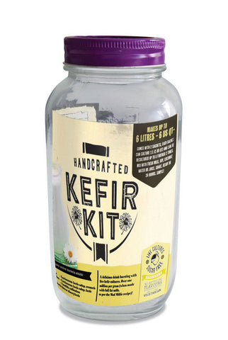 Kefir Kit by Mad Millie - includes Culture & Glass Mason Jar to make 6L Kefir