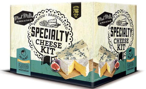 Specialty Cheese Making Kit by Mad Millie, makes up to ~7kg of specialty cheeses