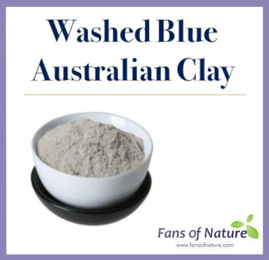 Washed Blue Cosmetic Clay Powder -For Mask, Oily Skin & Hair, Regulate Sebum