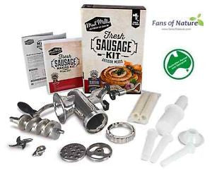 Fresh Sausage Making Kit by Mad Millie - Includes Stainless Steel Meat Grinder