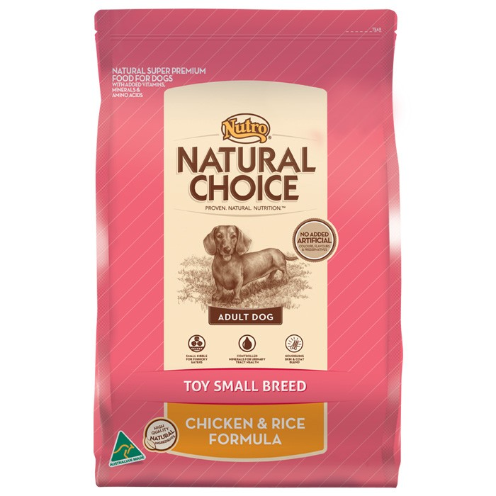NUTRO NATURAL CHOICE CHICKEN & RICE - TOY SMALL BREED 3kg