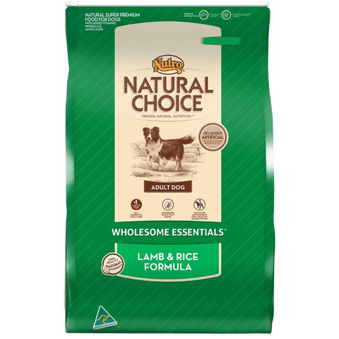 NUTRO NATURAL CHOICE LAMB & RICE - 3kg